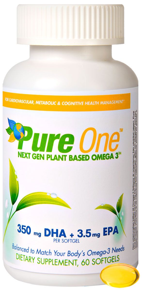 Vegan DHA and EPA Algae Oil Supplement Omega-3 non-GMO