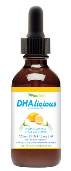 PURE ONE DHAlicious Organic Lemon and Green Tea Flavor